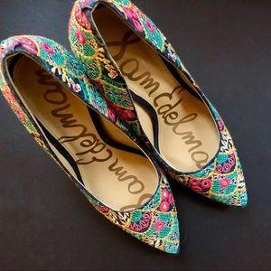 "Embroidered ""Hazel"" Heels"